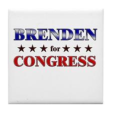 BRENDEN for congress Tile Coaster