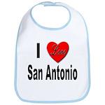 I Love San Antonio Bib