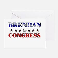 BRENDAN for congress Greeting Card