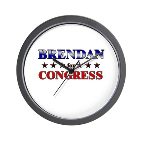 BRENDAN for congress Wall Clock