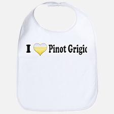 I Love Pinot Grigio Bib