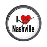 I Love Nashville Wall Clock