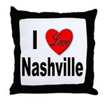 I Love Nashville Throw Pillow