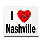I Love Nashville Mousepad
