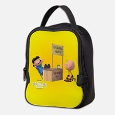 Lucy and Charlie Brown Full Ble Neoprene Lunch Bag