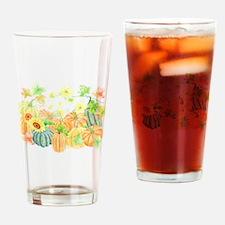 Watercolor Pumpkins Drinking Glass