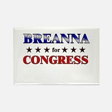 BREANNA for congress Rectangle Magnet