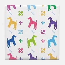 Airedale Terrier Designer Tile Coaster