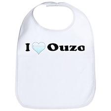 I Love Ouzo Bib