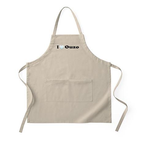 I Love Ouzo BBQ Apron
