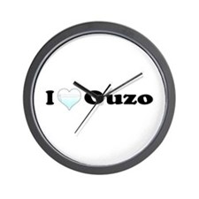 I Love Ouzo Wall Clock