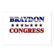 BRAYDON for congress Postcards (Package of 8)