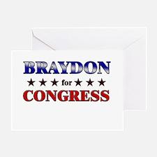BRAYDON for congress Greeting Card