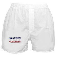 BRAYDON for congress Boxer Shorts