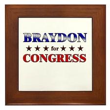 BRAYDON for congress Framed Tile