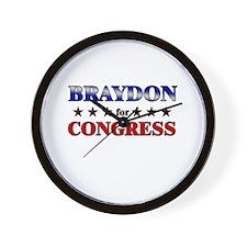 BRAYDON for congress Wall Clock