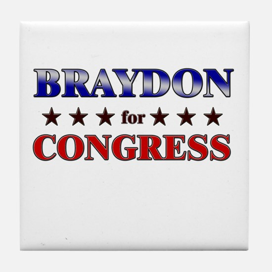 BRAYDON for congress Tile Coaster