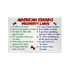 American Eskimo Property Laws 2 Rectangle Magnet (