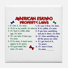 American Eskimo Property Laws 2 Tile Coaster