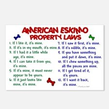 American Eskimo Property Laws 2 Postcards (Package