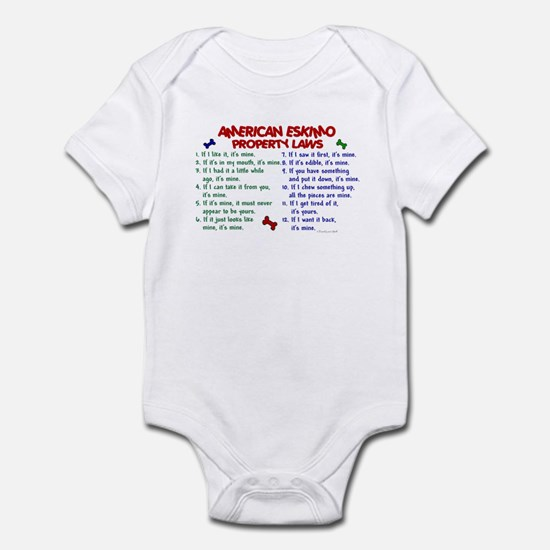 American Eskimo Property Laws 2 Infant Bodysuit