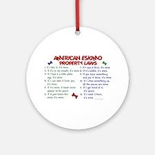 American Eskimo Property Laws 2 Ornament (Round)