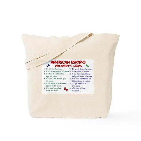 American Eskimo Property Laws 2 Tote Bag
