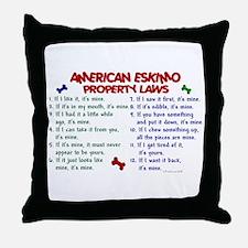 American Eskimo Property Laws 2 Throw Pillow