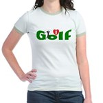 Ladies Golf Jr. Ringer T-Shirt