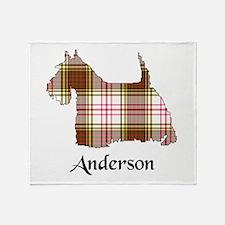 Terrier - Anderson dress Throw Blanket