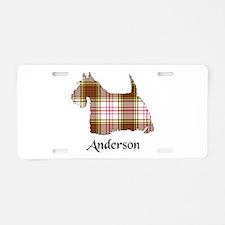 Terrier - Anderson dress Aluminum License Plate