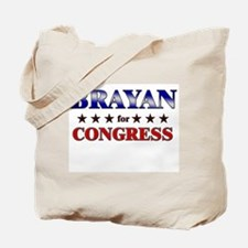BRAYAN for congress Tote Bag