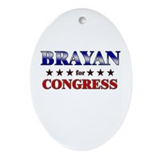 BRAYAN for congress Oval Ornament