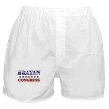 BRAYAN for congress Boxer Shorts