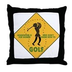 Ladies Golf Throw Pillow