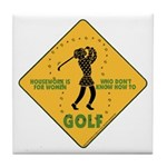 Ladies Golf Tile Coaster
