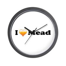 I Love Mead Wall Clock