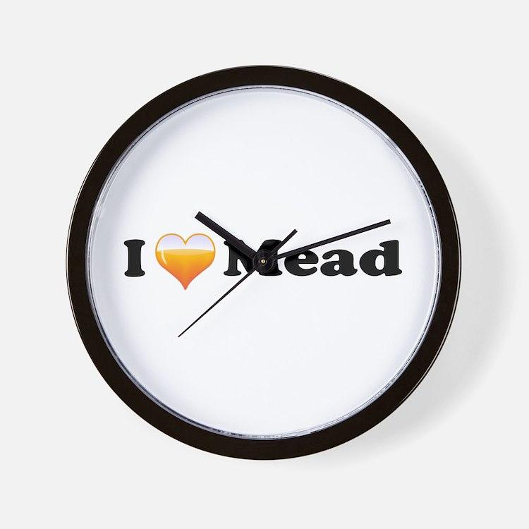 I Love Mead Wall Clock