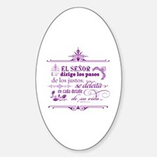 Funny Christian in spanish Sticker (Oval)