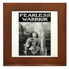 FEARLESS WARRIOR Framed Tile