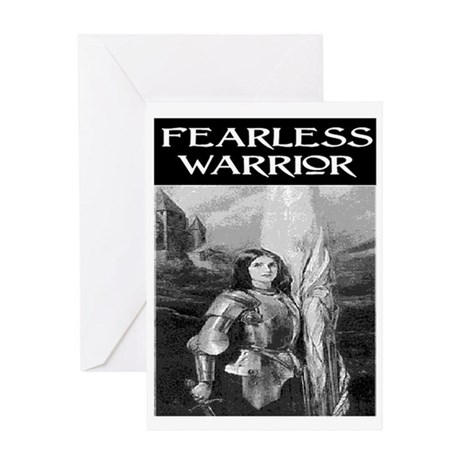 FEARLESS WARRIOR Greeting Card
