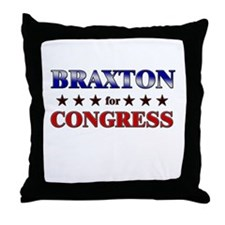 BRAXTON for congress Throw Pillow