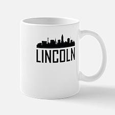 Skyline of Lincoln NE Mugs
