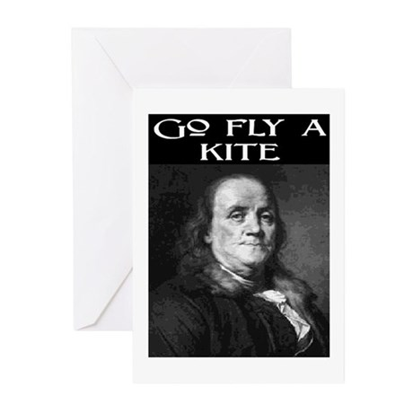 GO FLY A KITE (2) Greeting Cards (Pk of 10)