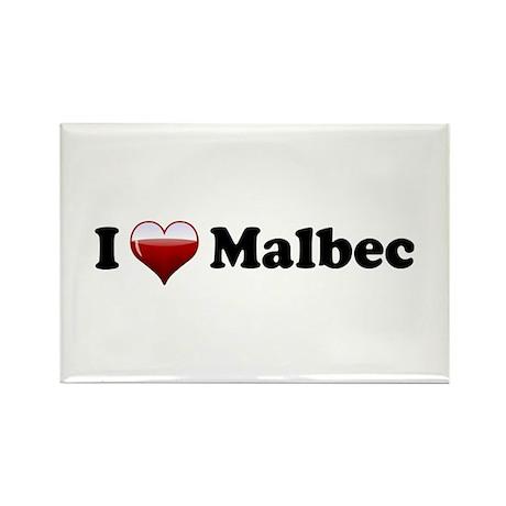 I Love Malbec Rectangle Magnet (10 pack)