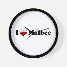 I Love Malbec Wall Clock