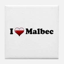 I Love Malbec Tile Coaster