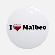 I Love Malbec Ornament (Round)