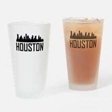 Skyline of Houston TX Drinking Glass