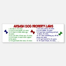Akbash Dog Property Laws 2 Bumper Bumper Bumper Sticker